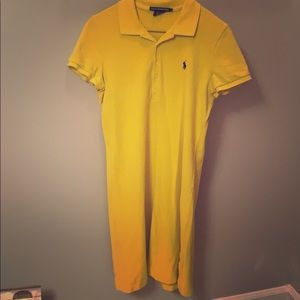 Yellow Ralph Lauren polo dress